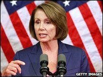 House Speaker Nancy Pelosi announces the bail-out package