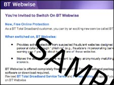 Screenshot of Webwise Invite, BT