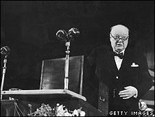 Churchill at a Conservative conference at Margate