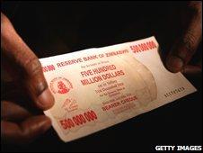 Zimbabwean note