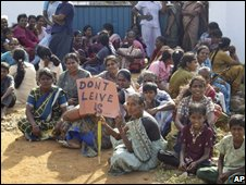 Displaced people in northern Sri Lanka