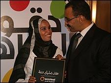 Winning couple Rabab Mahmoud and Ashraf Aboubakr