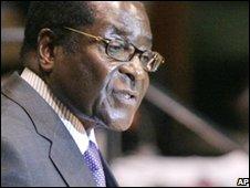 Zimbabwean president, Robert Mugabe, speaking at the UN