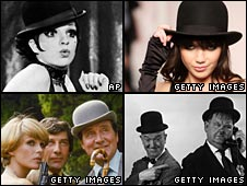 Liza Minnelli, model Daisy Lowe, Laurel and Hardy, and Steed in the Avengers