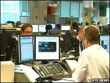 Irish Republic stock market - pic RTE news