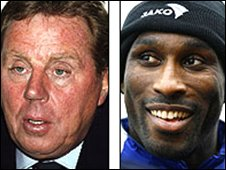Portsmouth manager Harry Redknapp (left) and defender Sol Campbell