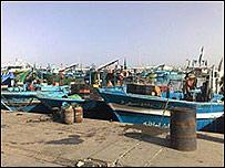 Barcos de pesca en Zuwarah