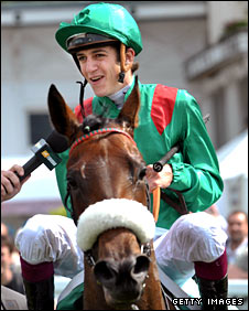 Jockey Christophe Soumillon and French horse Zarkava
