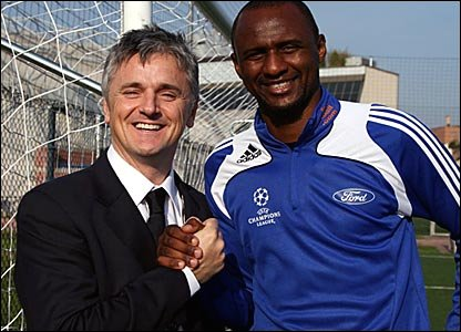 Des Kelly and Patrick Vieira
