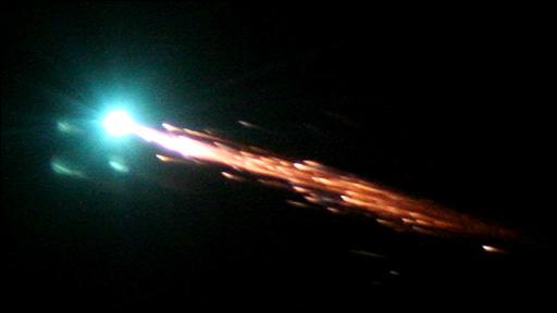 Jules Verne burning up (Esa)