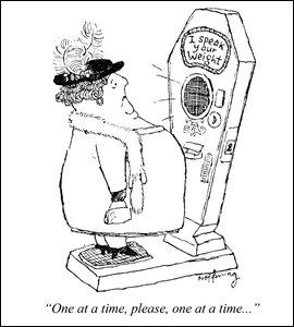 Cartoon by Gerald Hoffnung, 1957