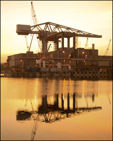 Devonport crane: Pic Royal Navy
