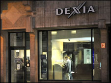 A branch of Dexia in the centre of Brussels
