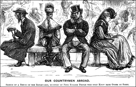 Cartoon by George du Maurier, 1870