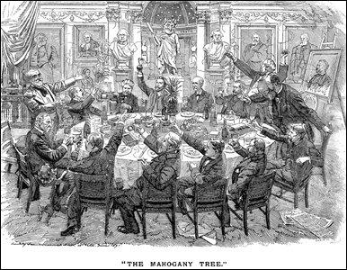 Cartoon by Linley Sanbourne, 1891