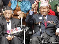 Victoria Cross winners Lachhiman Gurungi and Tul Bahadour Pun