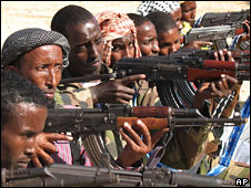 Islamist fighters in Somalia in 2006