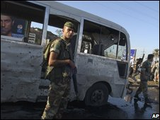 Scene of blast in Tripoli, Lebanon, on 29/09/08