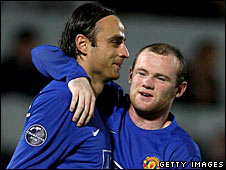 Dimitar Berbatov and Wayne Rooney