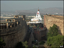 The Chamunda Devi temple in Jodhpur