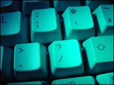 File photograph of a computer keyboard