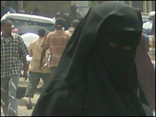 A woman in Mombasa, Kenya