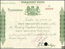 �1m Bank of England note
