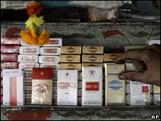 Cigarettes on sale in India