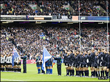 Scotland face New Zealand at Murrayfield in 2007