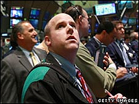 Corredor de bolsa en Wall Street