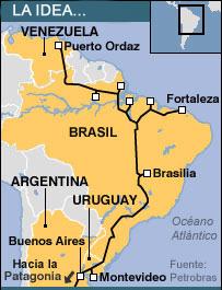 Mapa del proyecto de Gasoducto