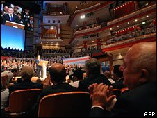 The audience at David Cameron's speech