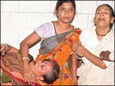 Bomb victim in Agartala