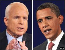 John McCain and Barack Obama, file images
