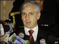 Álvaro García Linera, vicepresidente de Bolivia