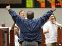 Traders in the Philippines in Thursday trading after the Senate passed the bill