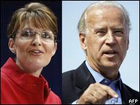 Sarah Palin y Joe Biden