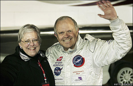 Steve Fossett with wife Peggy in February 2006