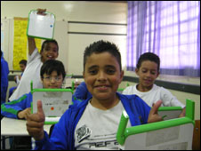 Children from the Ernani School in Sao Paulo