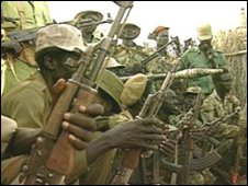 Sudan SPLA fighters