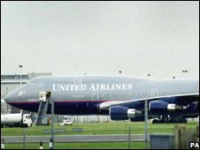 United plane grounded after 9/11