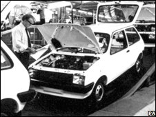 Mini Metros on the production line in 1980