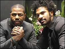 Monte Barrett (left) and David Haye