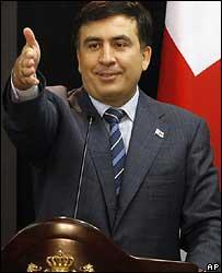 Михаил Саакашвили на одной из пресс-конференций