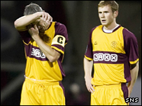Motherwell captain Stephen Craigan and Mark Reynolds