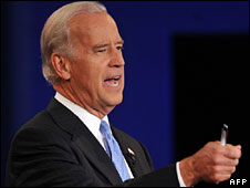 Joe Biden takes part in the debate, 2 Oct