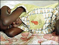 Malaria victim in Africa
