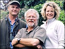 Autumnwatch presenters Simon King, Bill Oddie, and Kate Humble