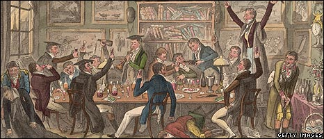 Oxford students carousing in 1824
