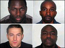 Clockwise from top left Johnson, Wilkinson, Iniodu and Wallace